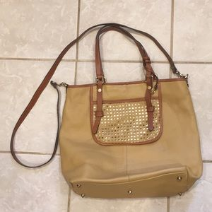 $260+ NWT Grey Gorgeous Asia Bellucci Leather Purse//Tote